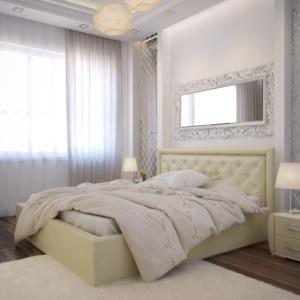 Интерьерная кровать с подъемным механизмом и дном ОСКАР 73-3